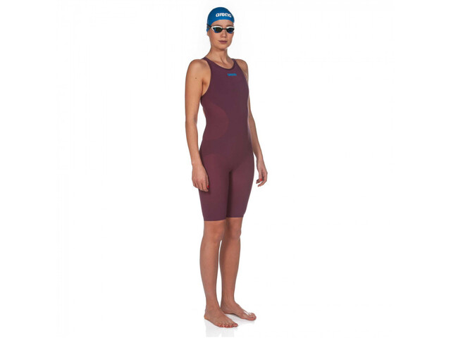 arena Powerskin R-Evo One Costume da bagno Donna, red wine/turquoise